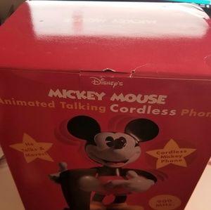 Mickey Mouse Cordless Talking Phone BNIB